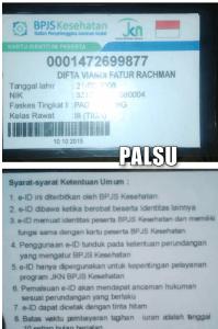 ciri-ciri kartu bpjs palsu