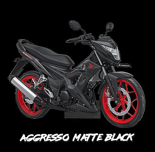 new honda sonic 150r 2017 aggreso black