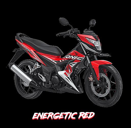 new honda sonic 150 energic red