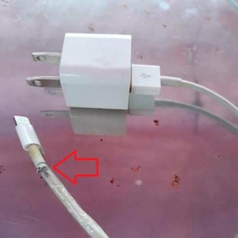 kesetrum kabel iphone 6