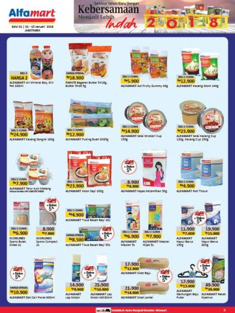 katalog promo Alfamart 1 - 15 Januari
